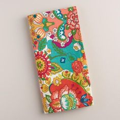 One of my favorite discoveries at WorldMarket.com: Floral Bettina Napkins, Set of 4