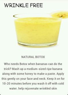 Natural botox wrinkle free banana mask