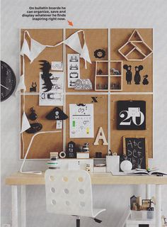 Group multiple cork boards together for a striking display! Poppytalk: 20 Cool Decorating Tricks + Finds from the 2016 IKEA Catalogue