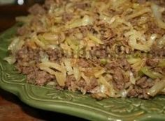 STIR-FRY CABBAGE WITH GROUND BEEF