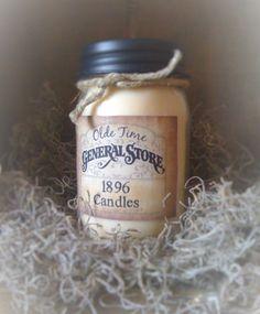 1896 Primitive Jar Candle 16 oz  Black by DebsCandlesandDreams