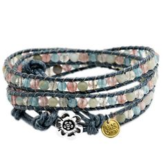 Aventurine & Jade Crystal Wrap Bracelet