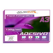 Papel Foto Glossy Paper Adesivo 230g/m² A3