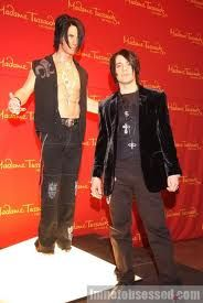 madame tussauds criss angel wax figure with the real criss angel