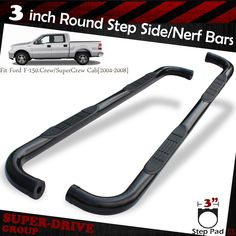 For   Ford F  Super Crew Cab  Round Blk Nerf