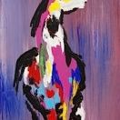 #438 Painted Horse, Acrylic on Canvas, 11x14