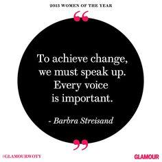 Barbra Streisand at #GlamourWOTY
