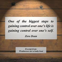 Weaknesses are a leaky boat #zerosophy