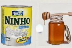 alisamento natural de cabelo com leite em pó e mel - Receitas da Vovó