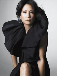 Lucy Liu; wasn't always a fan but I am starting to like her style and the way she works her look