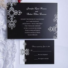 Black And White Wedding Invitation Cards Black And White Wedding Invitations, Traditional Wedding Invitations, Wedding Invitations Online, Vintage Wedding Invitations, Wedding Invitation Cards, Wedding Cards, Wedding Gifts, Wedding Day, Invites