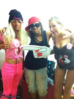 Nicki Minaj, Lil Wayne and Miley Cyrus - Halloween Costume Contest via @costume_works