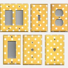 Sunflower Golden Yellow & White Polka Dots Light Switchplates & Outlet Covers - Simply Chic Gal