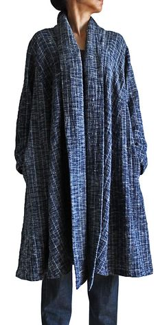 Tarpon lobe of the hand-woven cotton coat JFS-062-04