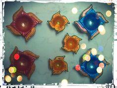 handpainted diwali lamps!:)