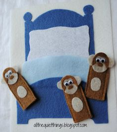 All The Quiet Things: Quiet Book - I like the finger puppet and clock pages