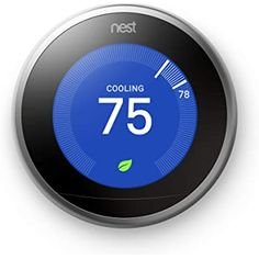 Smart Thermostats Help Save Energy In Texas Heat Your home surveillance system helps keep you safe, and now you can even save money. What is a Smart Thermostat? A Smart Thermostat uses information about what's going on inside and outside . Home Thermostat, Alexa Device, Works With Alexa, Home And Away, Smart Home, Save Energy, It Works, Autos