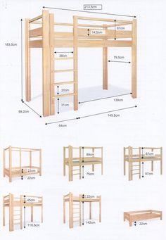 diy loft beds for small rooms ~ diy loft bed . diy loft bed for kids . diy loft bed for adults . diy loft beds for small rooms . diy loft bed for kids how to build . diy loft bed with desk . diy loft bed for kids boys Room Design Bedroom, Small Room Bedroom, Bedroom Loft, Trendy Bedroom, Diy Bedroom, Bedroom Storage, Build A Loft Bed, Loft Bed Plans, Diy Bed Loft