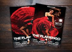 The Flamenco Night Party Flyer by flyernerds on Creative Market