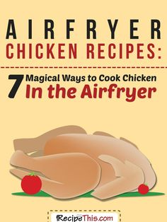 Welcome to Airfryer chicken recipes – 7 magical ways to cook chicken in the Airfryer. I think I have fallen into an unplanned routine of sharing chicken Airfryer recipes. I end up with some leftover… Actifry Recipes, Oven Recipes, Gourmet Recipes, Cooking Recipes, Ww Recipes, Cooking Ideas, Dinner Recipes, Skinny Recipes, Bon Appetit