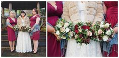 Love the bridesmaid's dresses. Such a perfect colour for a winter wedding   http://www.racheljoycephotography.co.uk/kirsty-and-bens-wedding-calfs-head-hotel-clitheroe-lancashire-wedding-photographer