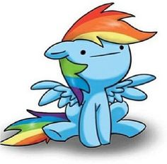 What Rainbow Dash would probably look like in a game like Battleblock Theater or Castle Crashers or something like that