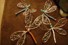 Wire Dragonflies  Very cute for pkgs, plants, lanterns and .......