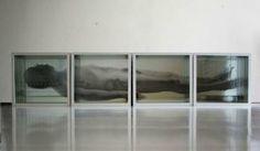 Giancarlo Marcali, Uomo morente, 2013, installazione - scatole specchio, radiografie, immagini, cm 180x37x12.