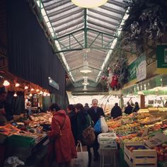 Food market with great restaurants such as Lebanese + japanese.