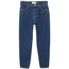 Mom Relaxed Jeans (2.810 RUB) ❤ liked on Polyvore featuring jeans, relaxed fit jeans, 5 pocket jeans, high rise jeans, dark wash jeans and relaxed jeans