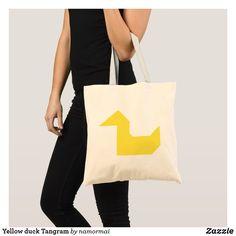 Yellow duck Tangram Tote Bag