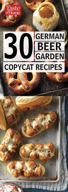 30 German Beer Garden Copycat Recipes A tradition dating back to century Bavaria, beer gardens are a warm weather gathering tradition that's still going strong. (Even in Milwaukee, where TOH is based!) While original beer garden… Oktoberfest Party, Oktoberfest Hairstyle, Oktoberfest Recipes, Beer Recipes, Copycat Recipes, Cooking Recipes, Chicken Recipes, German Appetizers, Gastronomia