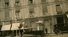 Hotel Simón, situado en Paseo de Almería, a 100 metros de la Puerta Purchena (donde está el actual supermercado (Carrefour Express). Painting, Postcards, Art, 100m, Old Things, Old Photography, Walks, Cities, Fotografia