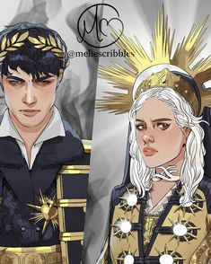 Revisiting my old drawing of Evil Alina and the Darkling. My fav ship that sunk so long ago. Both characters from Shadow and Bone… Fantasy Books, Fantasy World, Fantasy Art, Character Inspiration, Character Art, Character Design, The Darkling, The Grisha Trilogy, Ange Demon