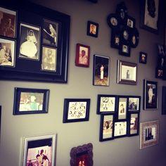 My wall of family history