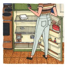 Illustration by Sally Nixon | The Everyday Lives Of Real Women Captured In Whimsical Drawings