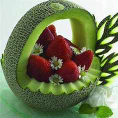 love this one, great for a individual plate if use small melon and fill with berries