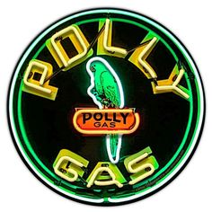 """POLLY-5 30/"""" ROUND POLLY GAS DECAL OIL GASOLINE PUMP SIGN STICKER"""