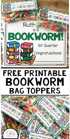 Free Printable Bookworm Bag Topper – Come Back to School Ar Reading, Reading Logs, Reading Centers, Reading Lessons, Reading Activities, Guided Reading, Beginning Of School, Back To School, School Stuff