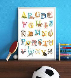 Alphabet animal poster download Nursery by Revistaontwerp on Etsy