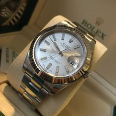 A stunning classic! Rolex Datejust II Silver Baton Dial 116334 Buy it today!