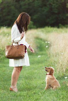 Classy Girls Wear Pearls: Walking the Pup