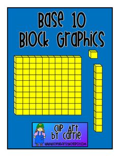 Base 10 Block graphics FREEBIE!