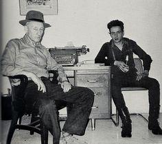 William Burroughs et Joe Strummer New York 1980