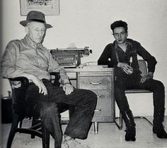 William Burroughs et Joe Strummer New York 1980