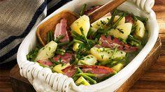 Kartoffelrezept: Birnen mit Bohnen, Speck und Kartoffeln von for me | rezepte | formeonline