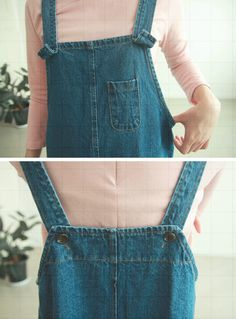 cute denim dungarees with pink shirt