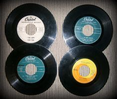 Lot of 8 Capitol Records 45  Glen Campbell, Letterman,Peter & Gordon & More