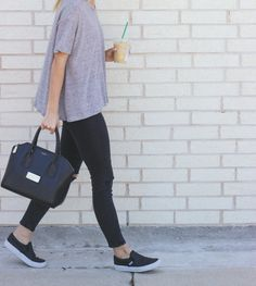 Weekend look with slip-on Vans sneakers / LivvyLand