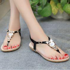 $9.65 (Buy here: https://alitems.com/g/1e8d114494ebda23ff8b16525dc3e8/?i=5&ulp=https%3A%2F%2Fwww.aliexpress.com%2Fitem%2F2017-Hot-Sale-Summer-Bohemia-Women-Sandals-Crystal-Comfortable-Flat-Woman-Shoes-New-Fashion-Casual-Beach%2F32788181412.html ) 2017 Hot Sale Summer Bohemia Women Sandals Crystal Comfortable Flat Woman Shoes New Fashion Casual Beach Sandals BS143 for just $9.65
